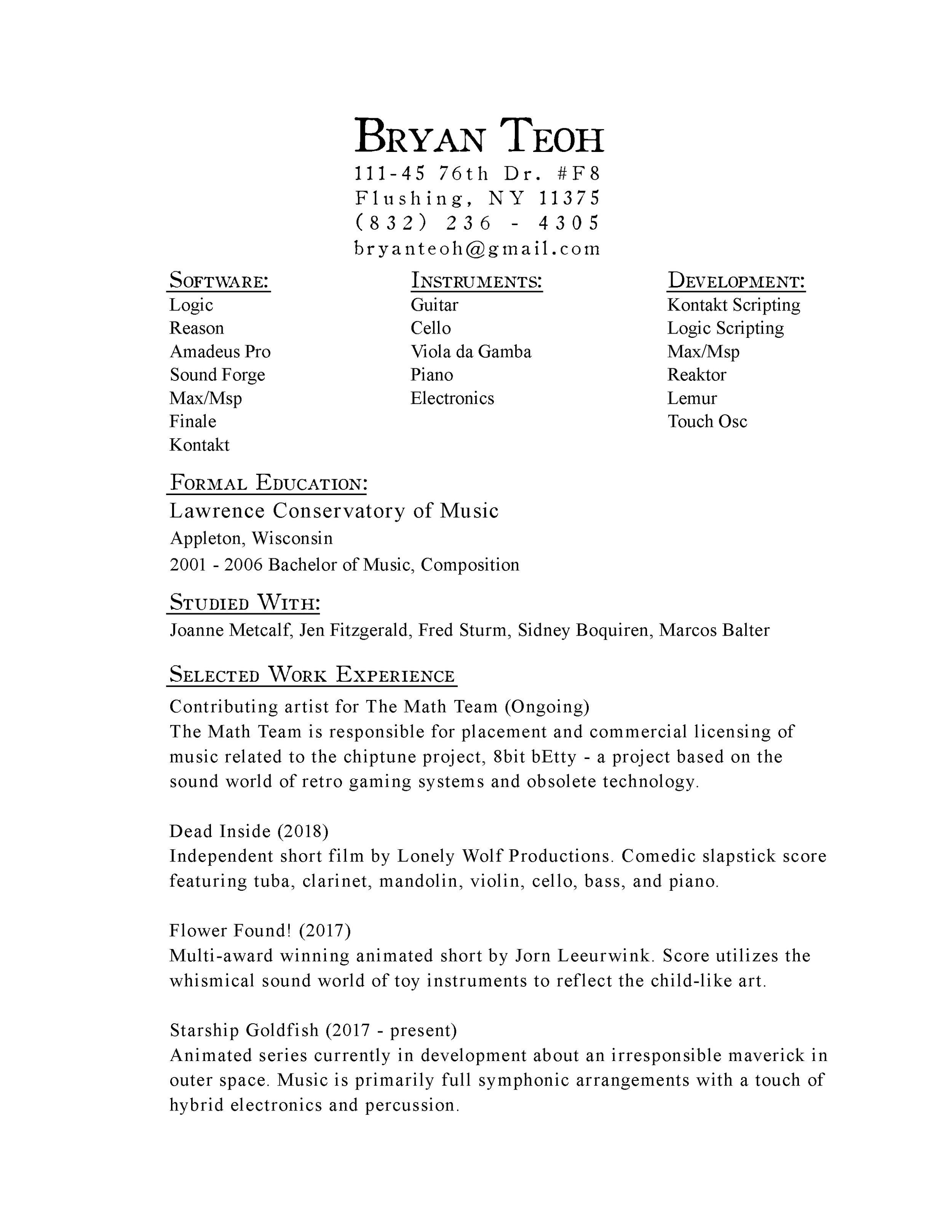 Resume pg 01