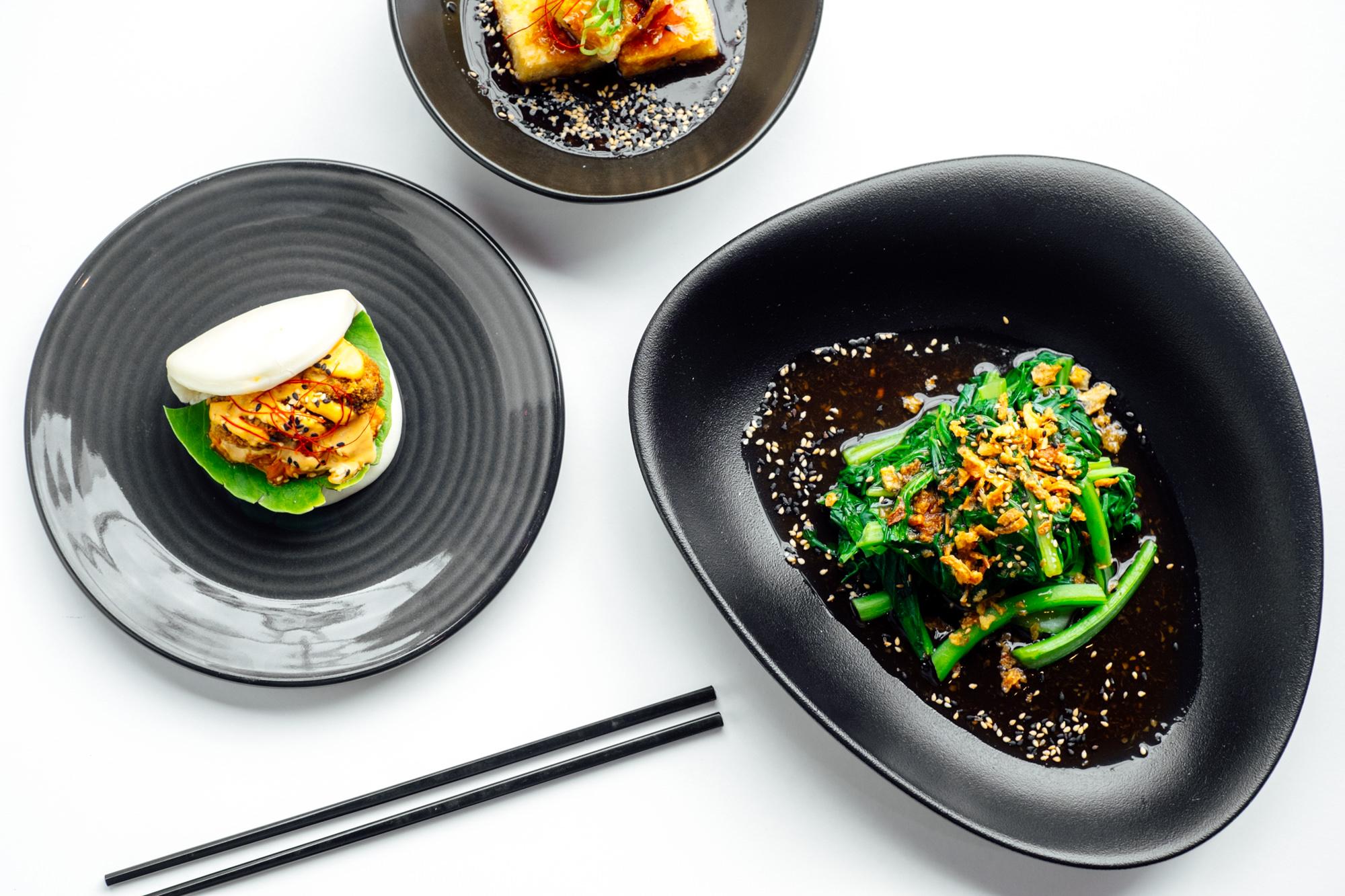 Punters can look forward to an expanded Brisbane menu, including Panko-Crumbed Mushroom & Kimchi Bao, Agedashi Tofu in Shiitake Dashi, Asian greens in ginger and garlic dressing and more. Photos: Adam Hunter
