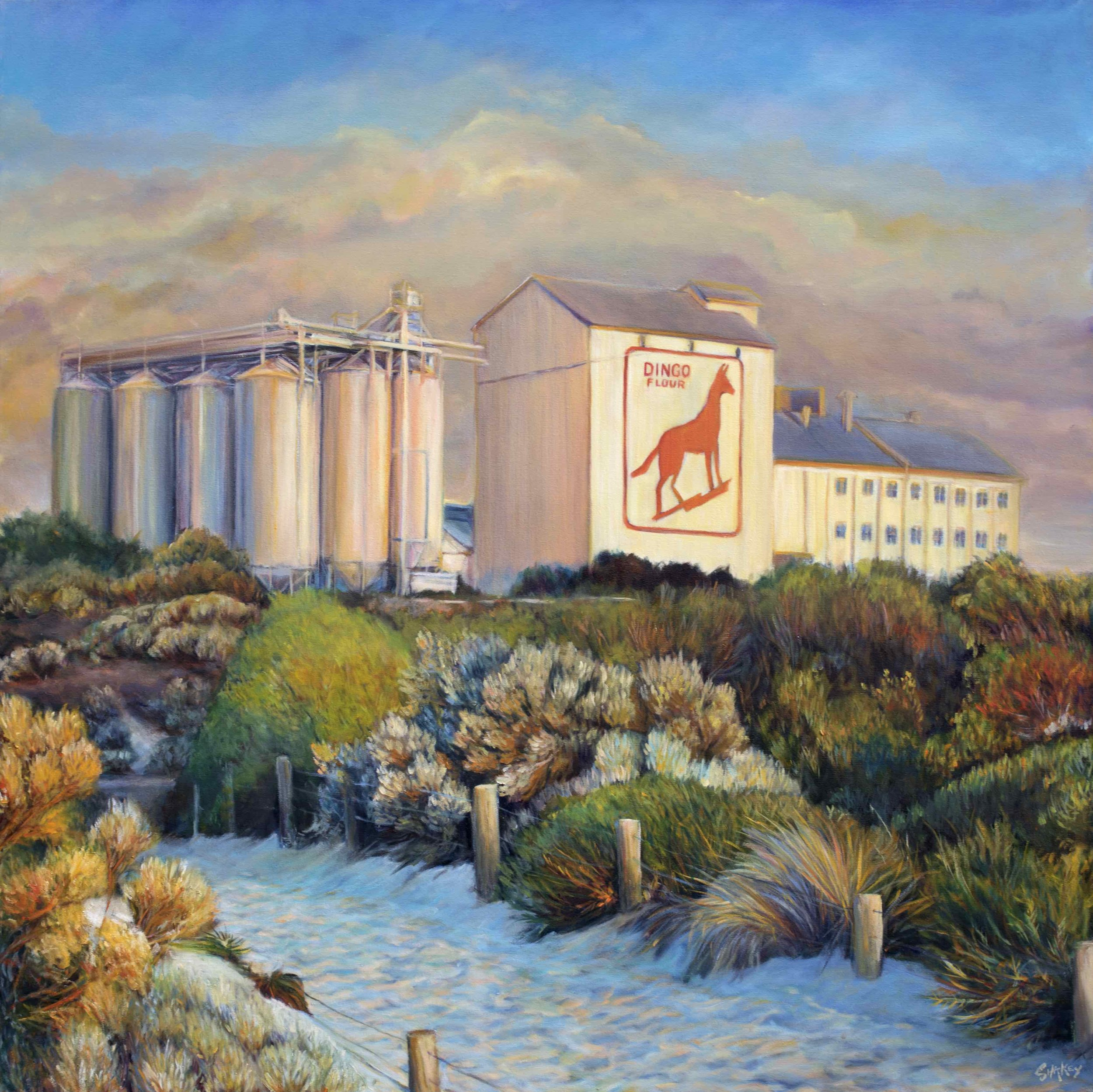 Dingo Flour Mill at Dusk