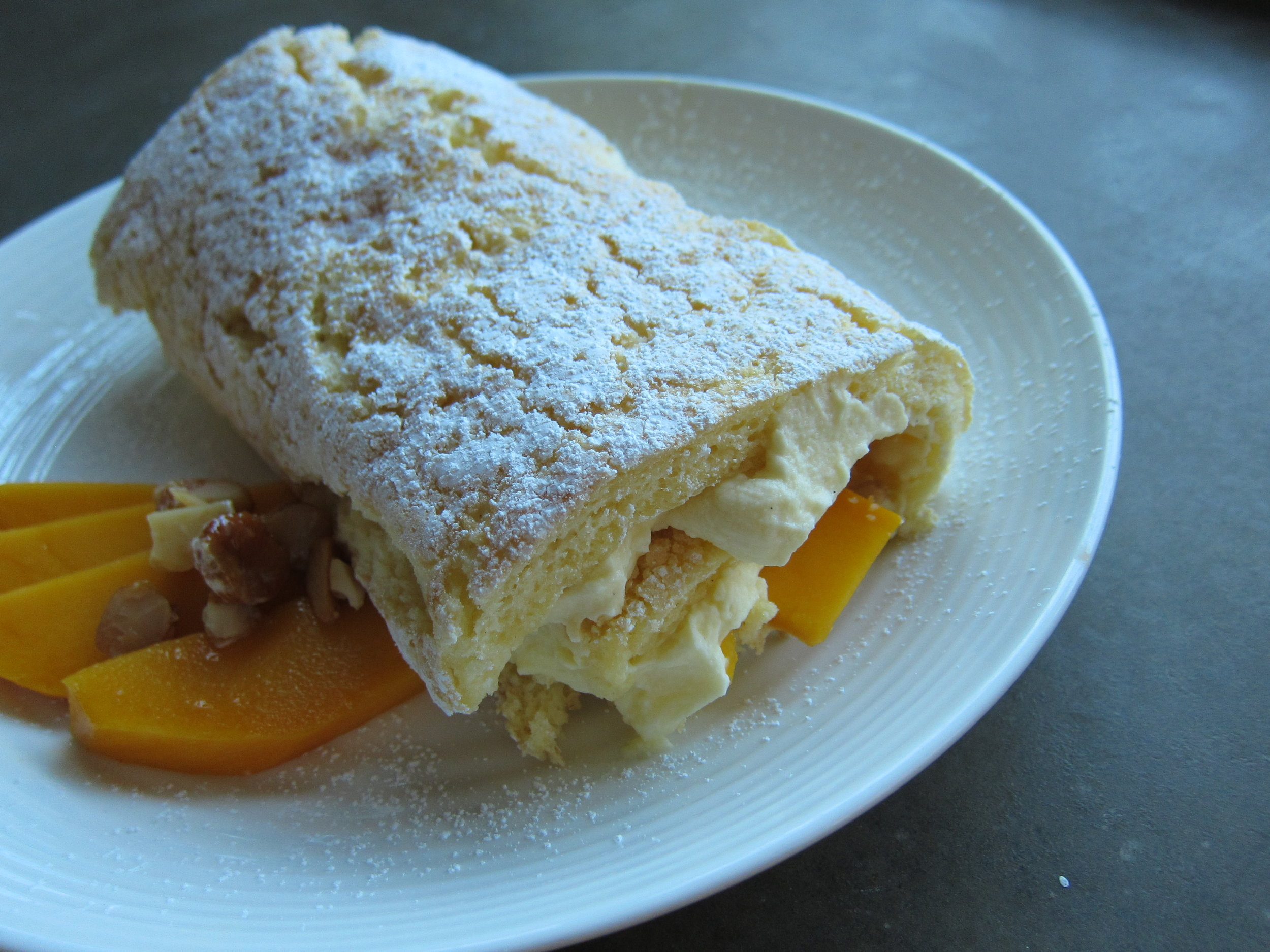 White Chocolate Mango Roulade Recipe