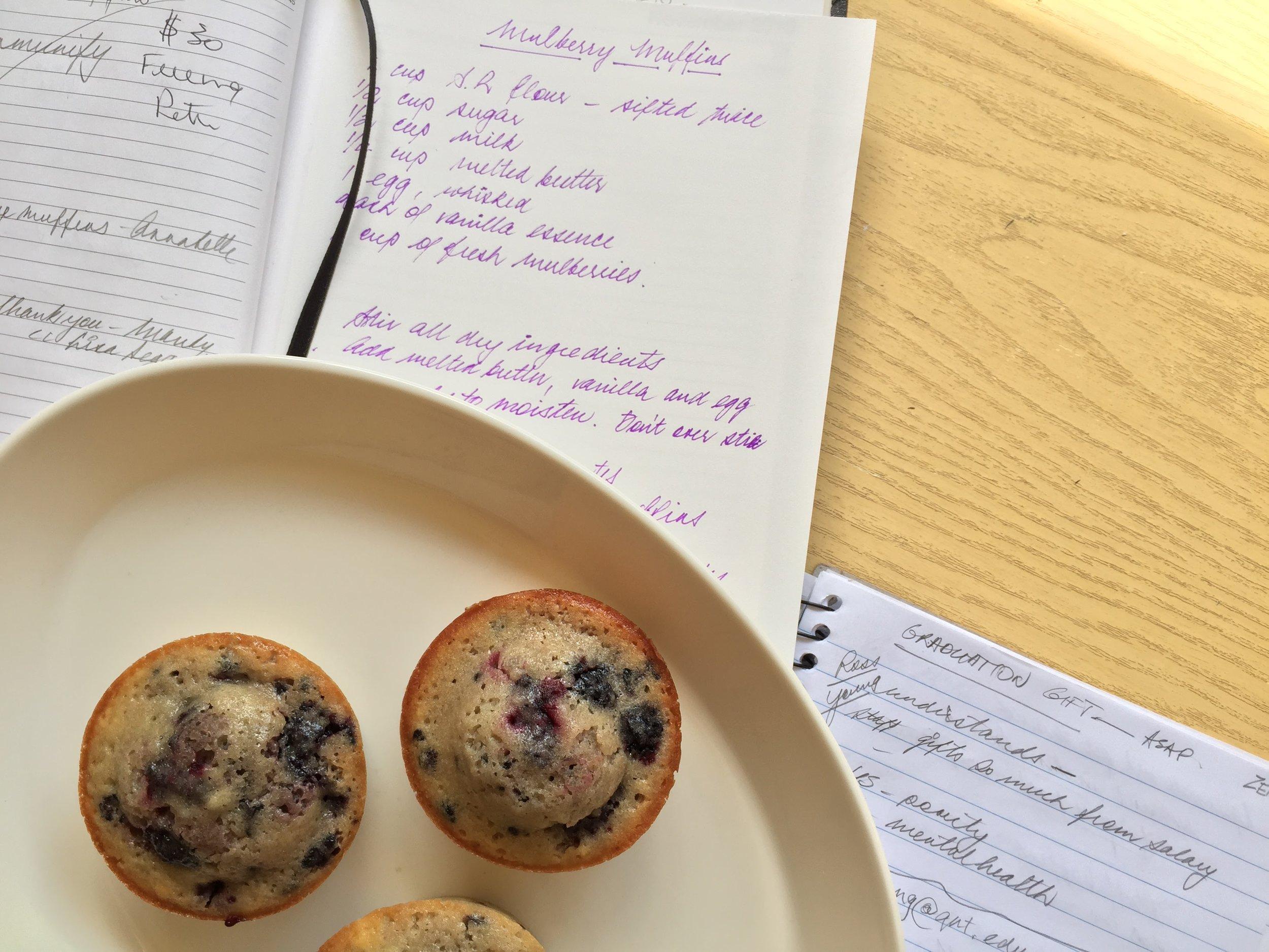 Mulberry Muffins Recipe