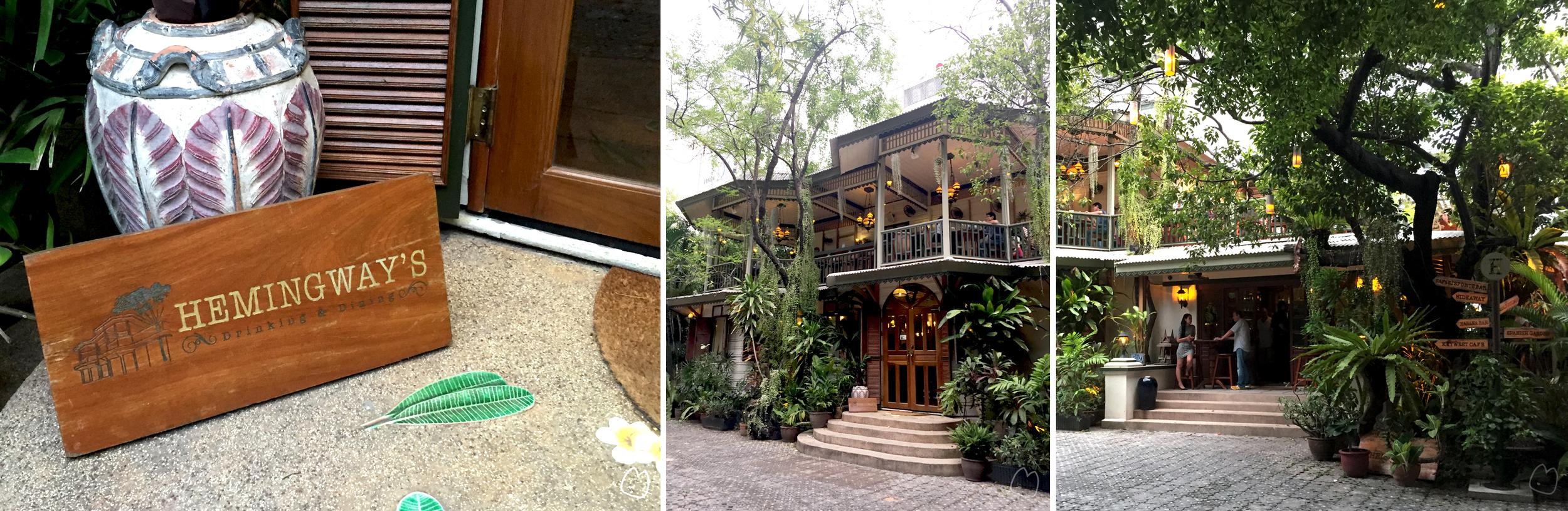 ด้านขวาชั้นเดียวเป็น open air drink bar ในตัวอาคารเป็นร้านอาหาร ซึ่งเลือกได้ว่าจะนั่งในห้องแอร์ (ด้านล่าง) หรือ open air (ระเบียงด้านบน)