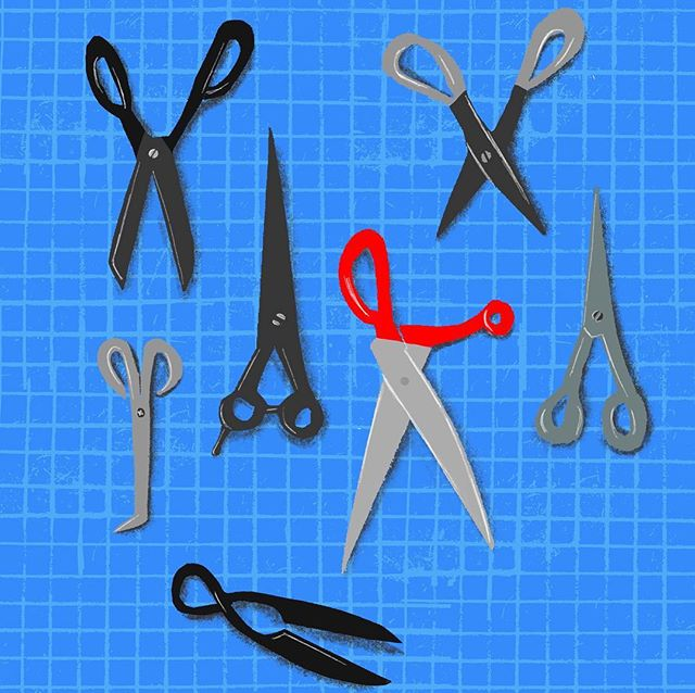 A quick sketch his evening of my tools of the trade! ✂️✂️✂️ I love my scissor collection. . . .  #tools #marchmeetthemaker #scissors #toolsofthetrade #mmtm #procreate #digitaldrawing #procreatedrawing #drawingscissors