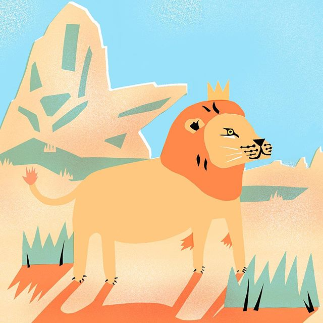 🦁The Lion King 👑 is coming out this week! I do love a bit of Disney nostalgia (and its fun to draw lions too). I still have my fold up toy version of pride rock, complete with Simba and Narla figures. Childhood treasure 💛 #lionking #disney