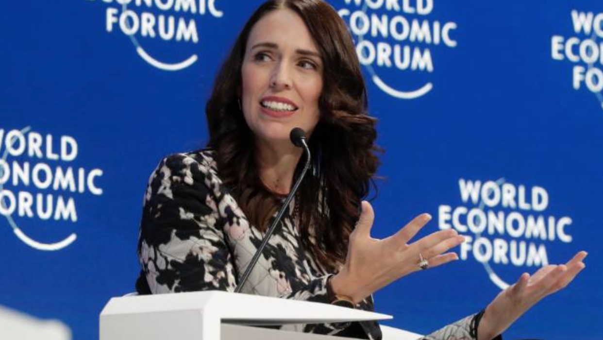 "Jacinda Arden - NZ Prime Minister - Discussing her ""Wellbeing budget"" at the world economic forum , Jan 29"