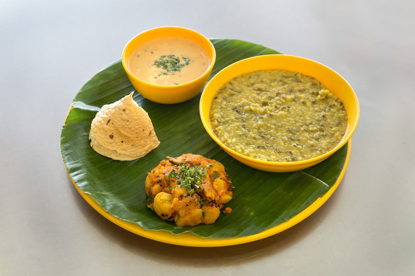 khichdi kadhi - batata shak