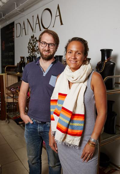 Danaqa owners, husband and wife, David and Nadia
