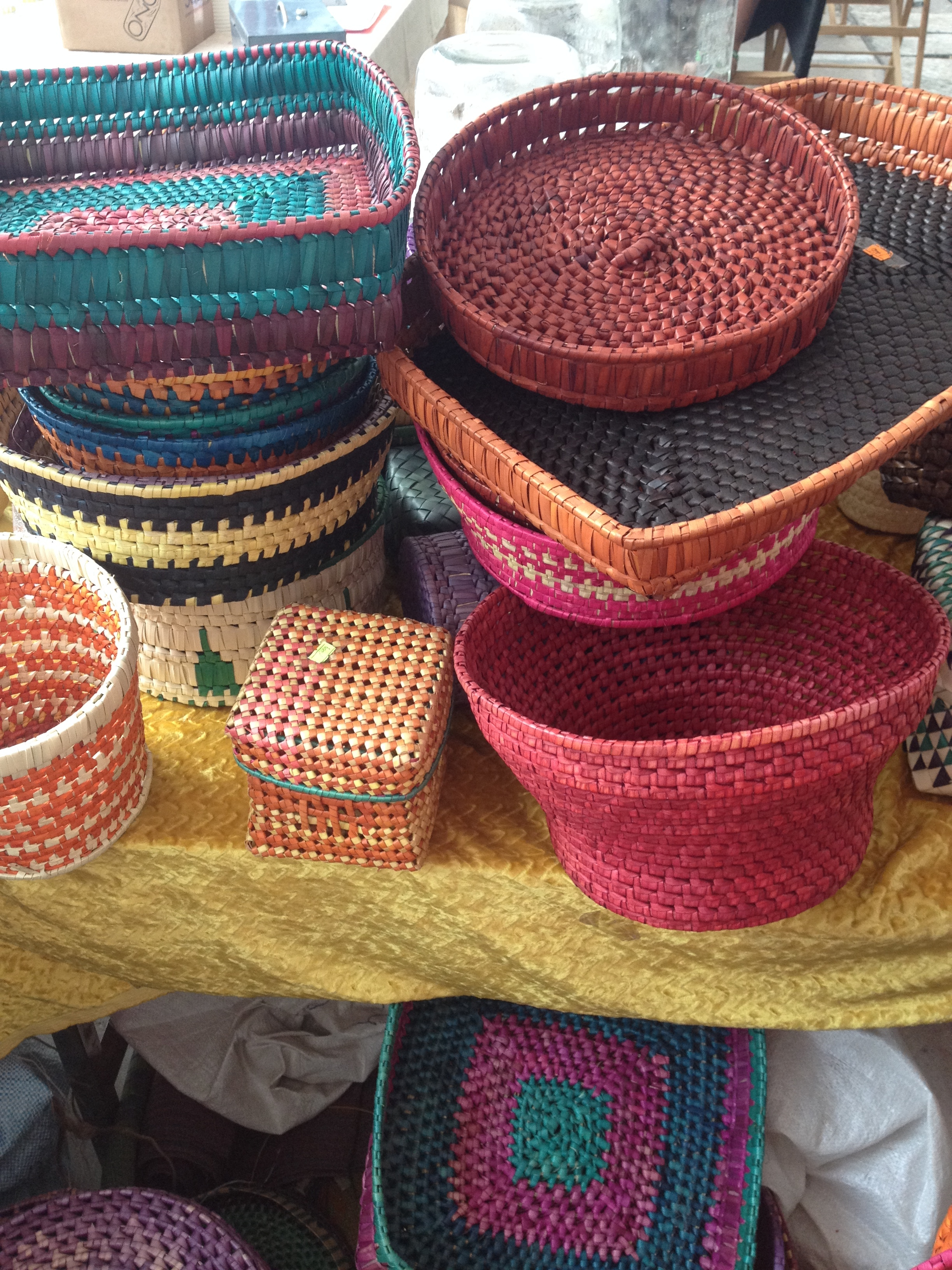 Handcrafted bags and baskets from Pulathisi at Good Market.