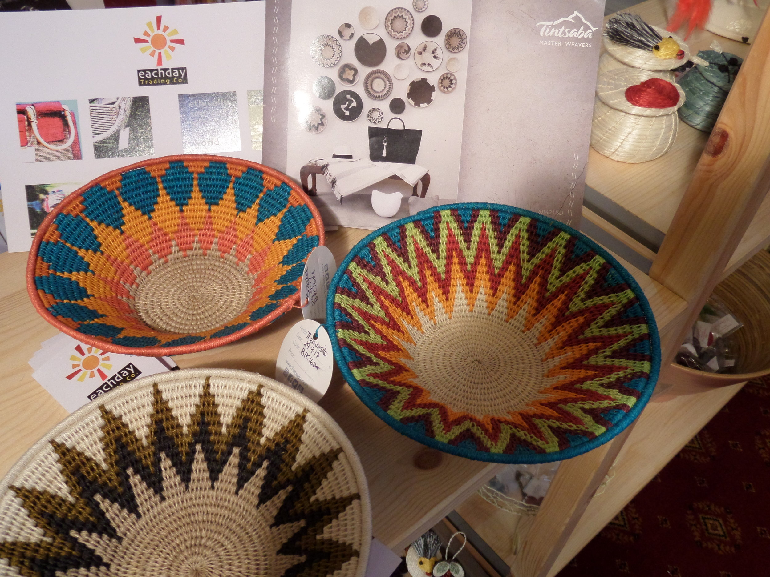 Swazi crafts on show at UK charity events . Danaqa supports annual charity events run by Friends of the Earth in Cirencester, Cancer Research in Marshfield, Oxfam in Wells and the Fairtrade Foundation in Brecon.