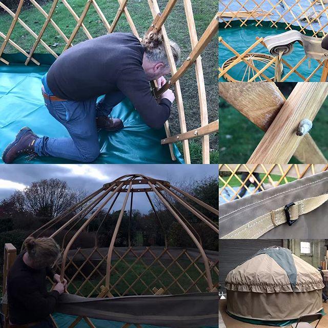 The #mastercraftsman at work #yurt #yurtbuilder #yurtforhire
