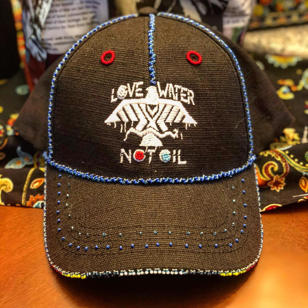 Custom hand beaded Hemp hats and bags beaded by Anishinaabe artists from Pine Point, White Earth, Leech Lake and more ... coming soon !