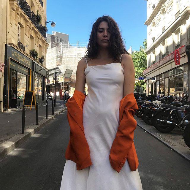 Michelle is wearing a 2000s long dress and a Céline jacket 🍊 . . . .  #vintage #vintageshop #vintageparis #vintageshopping #friperie #friperieparis #friperieenligne #headlessparis #pigalle #sopi #shoppinginparis #parisienne #paris #dress #dressoftheday #celine #celine #celinejacket #ootd #ootdfashion #outfit #outfitoftheday #beauty #2000s