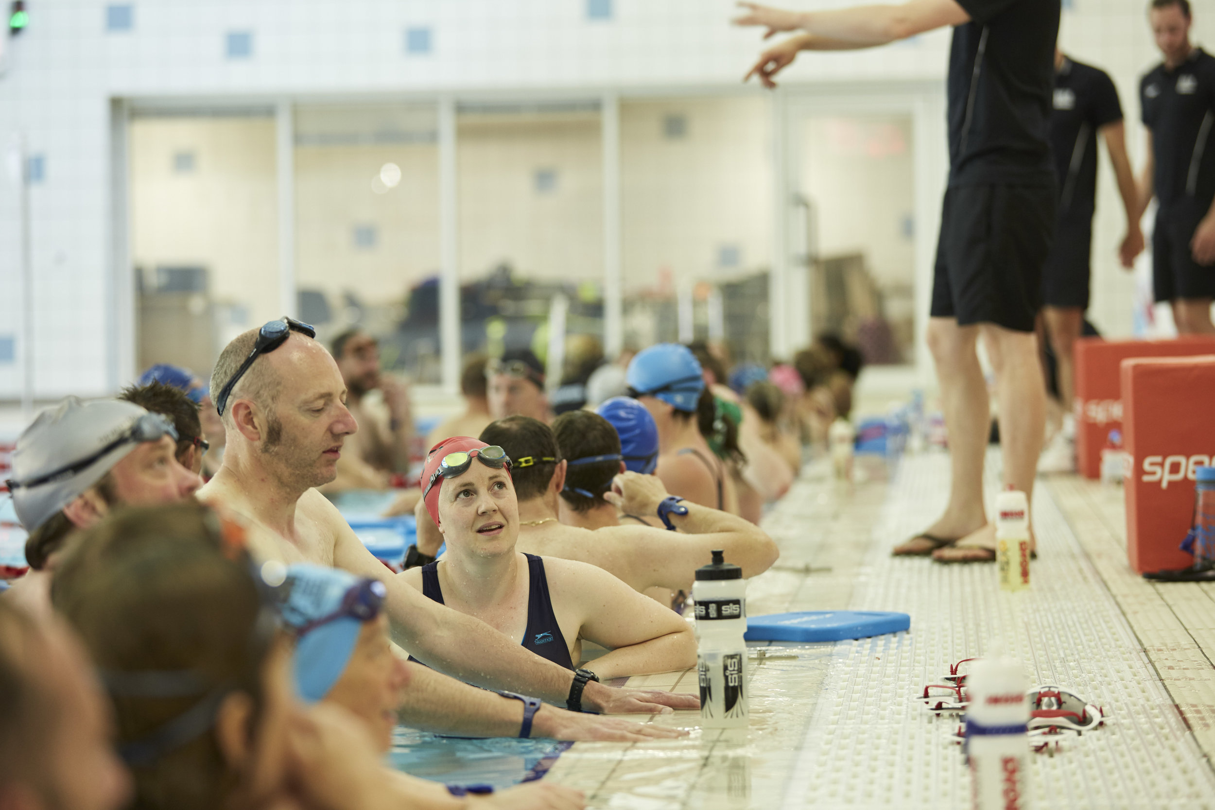 documentary, reportage and portraits taken at Speedo swimming sports events for PR and editorial. amateur swimmers are taught by olympic and professional athletes how to train