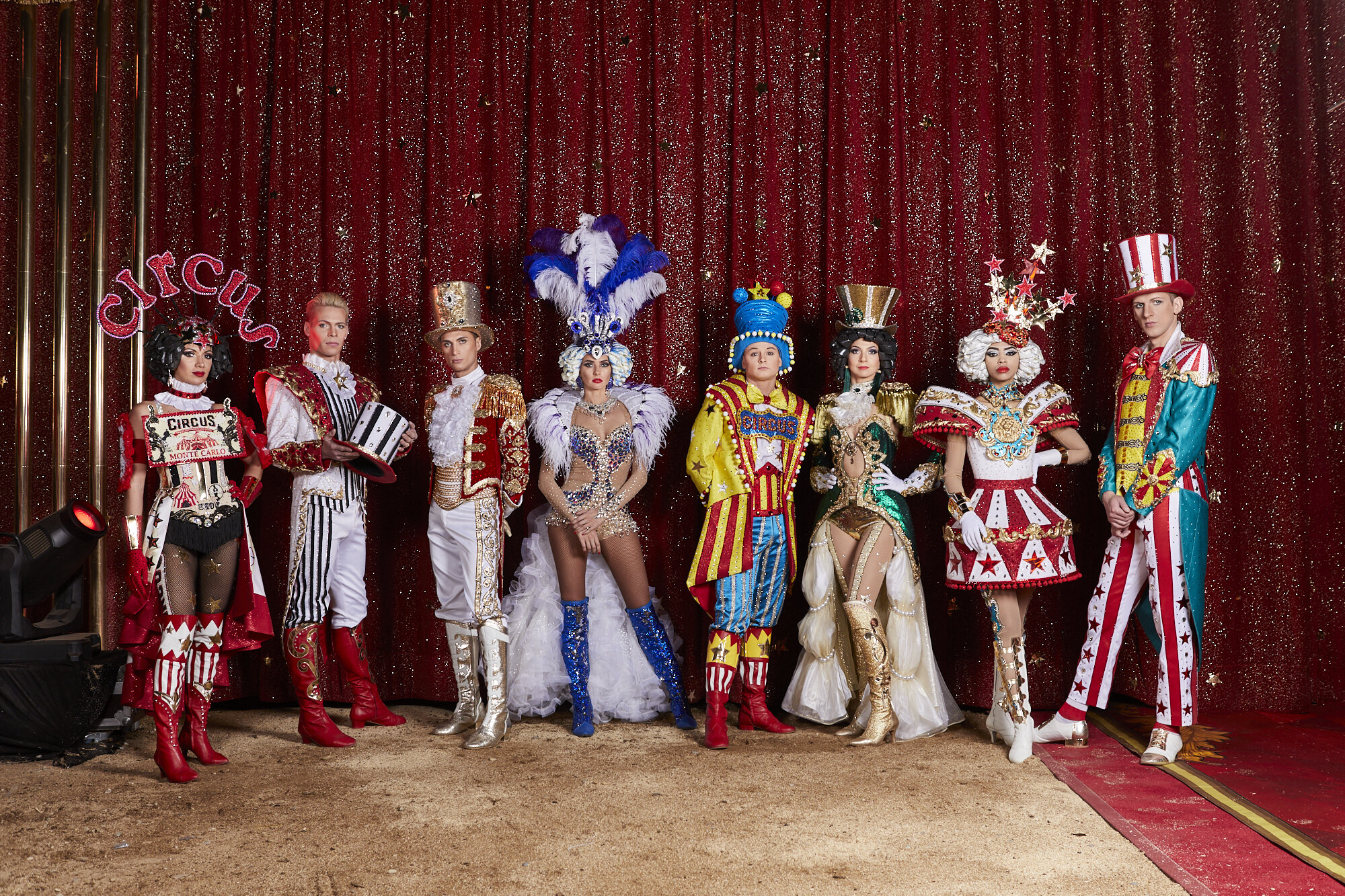 Artists from Gia Eradze's famous Royal Russian Circus