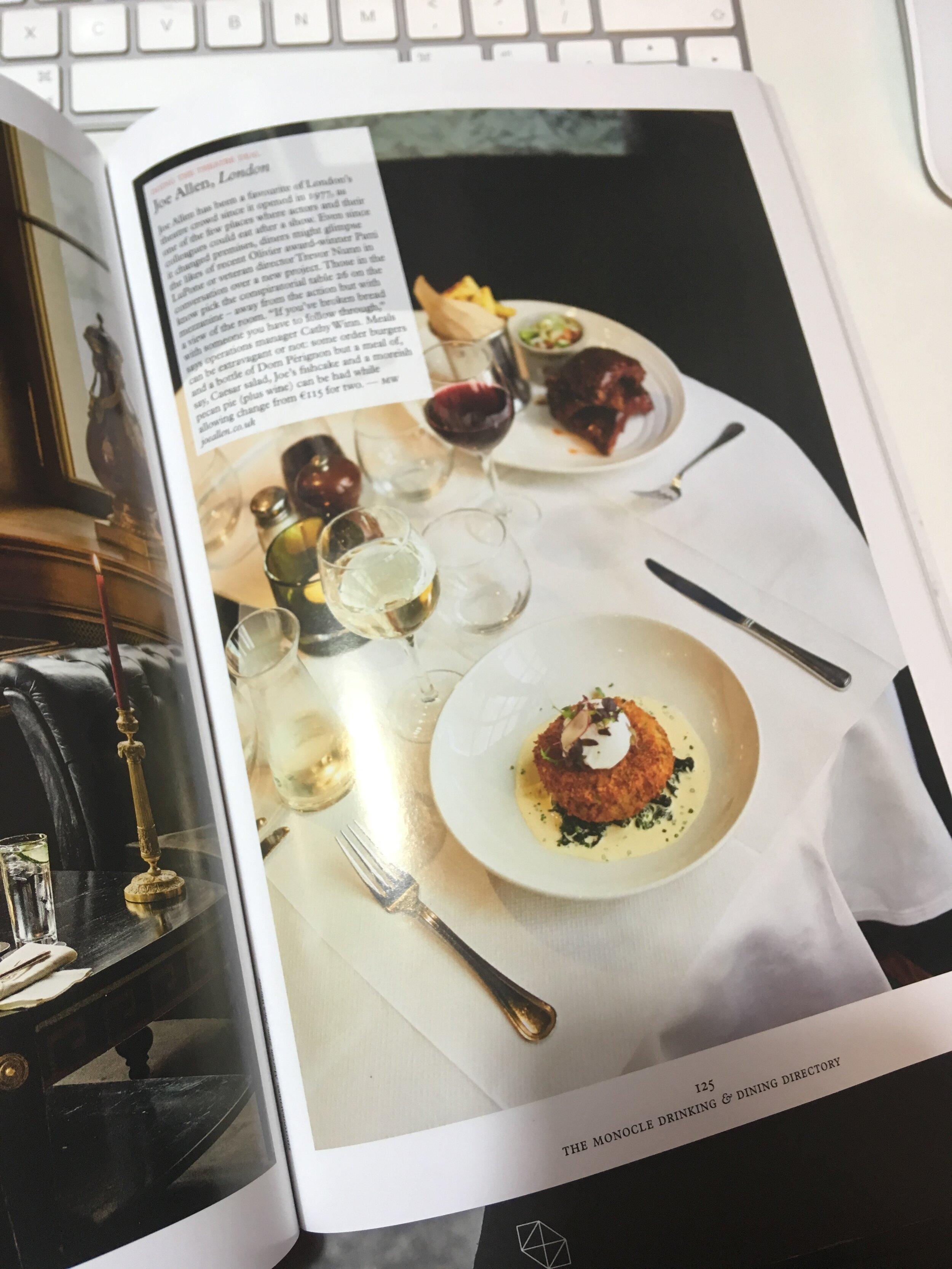 london-monocle-magazine-restaurant-dining-food-drink-guide-foodie-foodporn-realfood-joe-allens-wesrt-end-foodphotography-nick-warner-photographer-london-theatre-westend-broadway-monoclemagazine