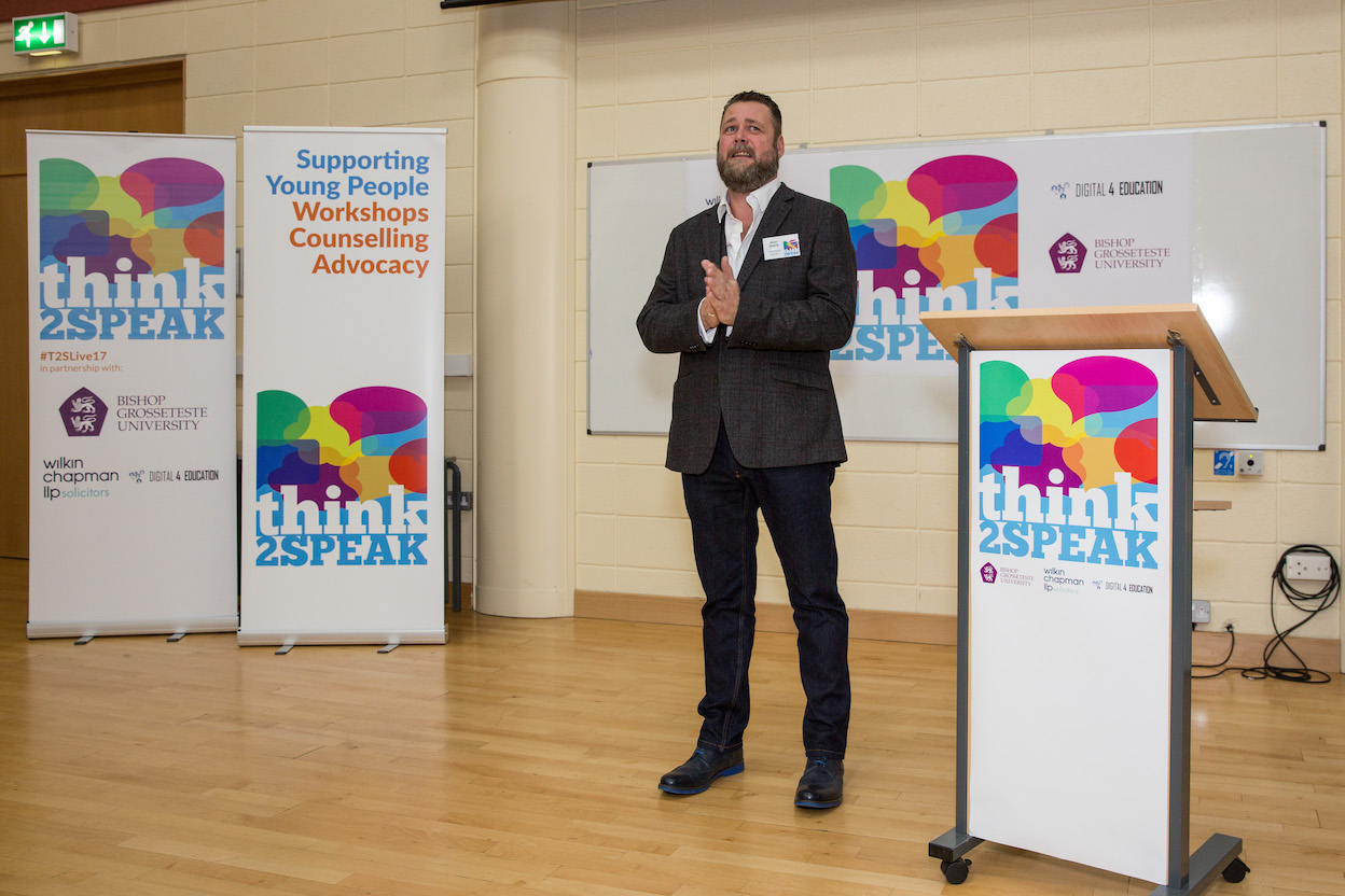 Alan Searle, Director at Think2Speak opening the day
