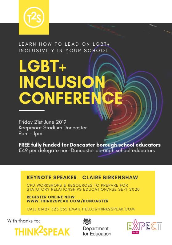 LGBT Doncaster conference — Think2Speak CIC
