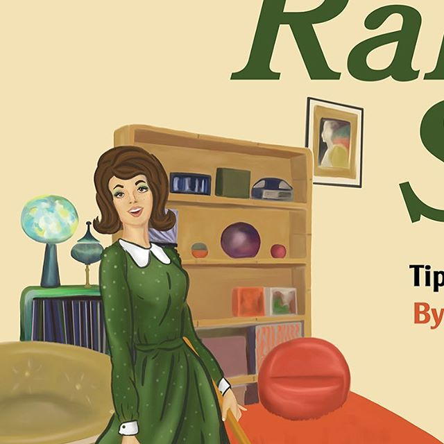 Another sneak peek at a book cover illustration for a client! . . . . . #illustration #illustrator #designer #design #vintage #advertisements #vintageadvertising #1970s #book #bookcoverdesign