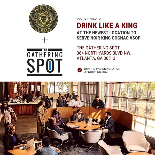 You're invited to drink like a king @thegatheringspots! Make sure you join the Noir King Nation at www.noirking.com