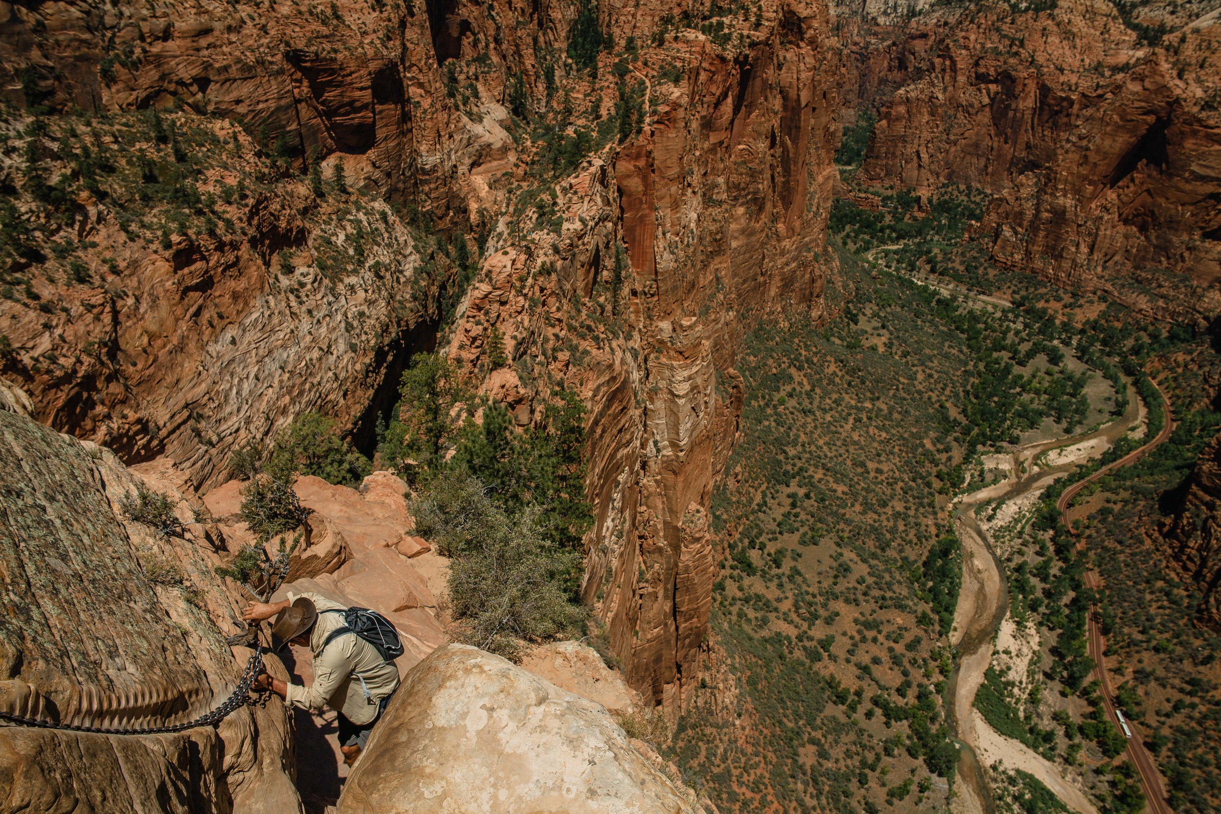 Going down Angel's Landing was harding than going up.