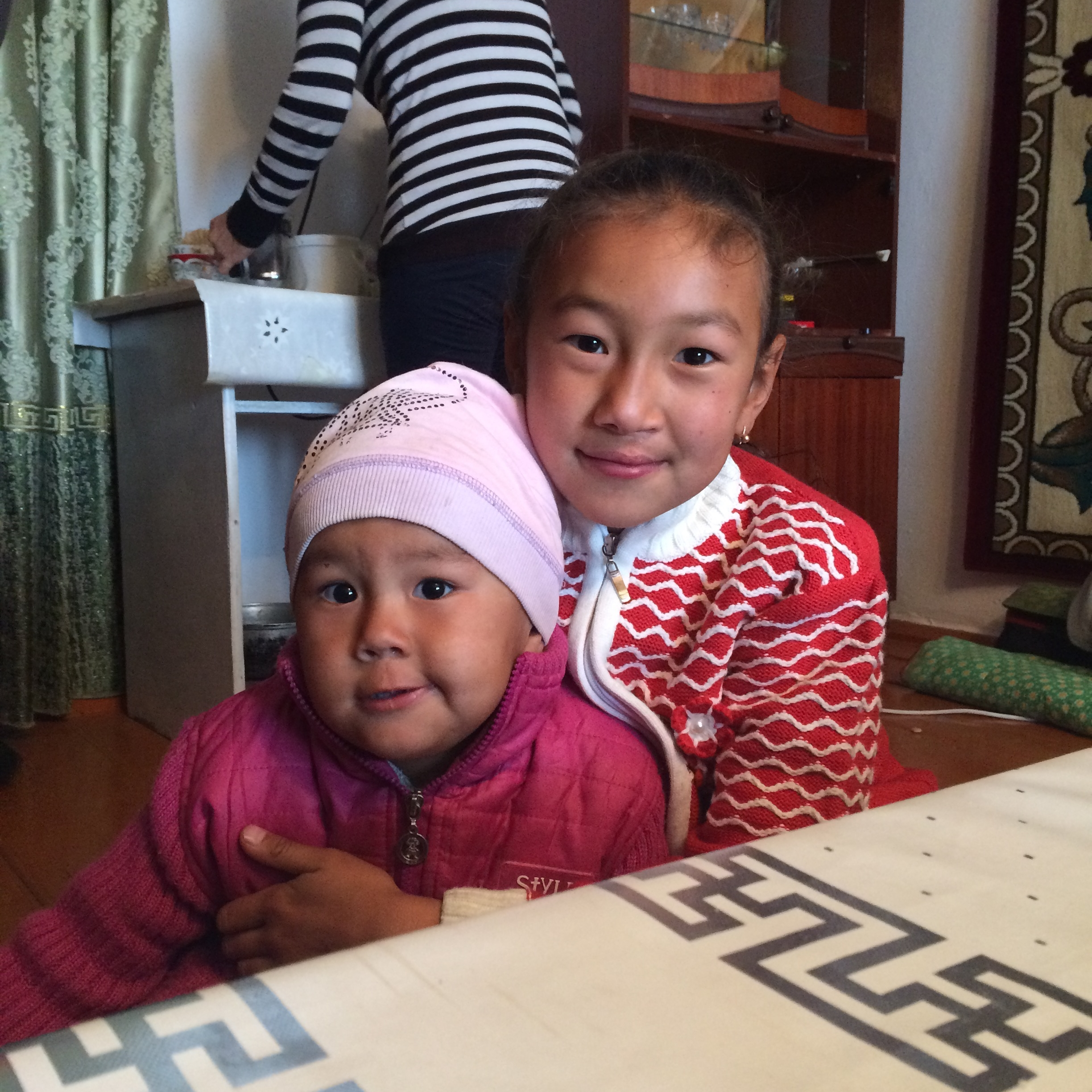 Saikal with her youngest sister
