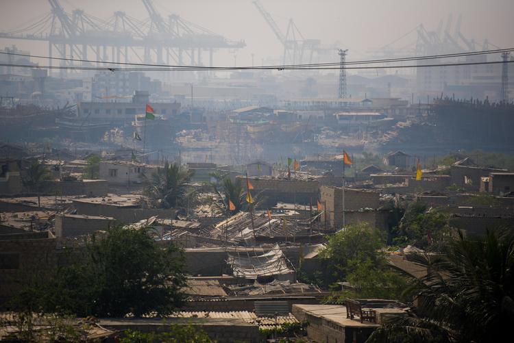 A view of Machar Colony, a slum in Karachi.
