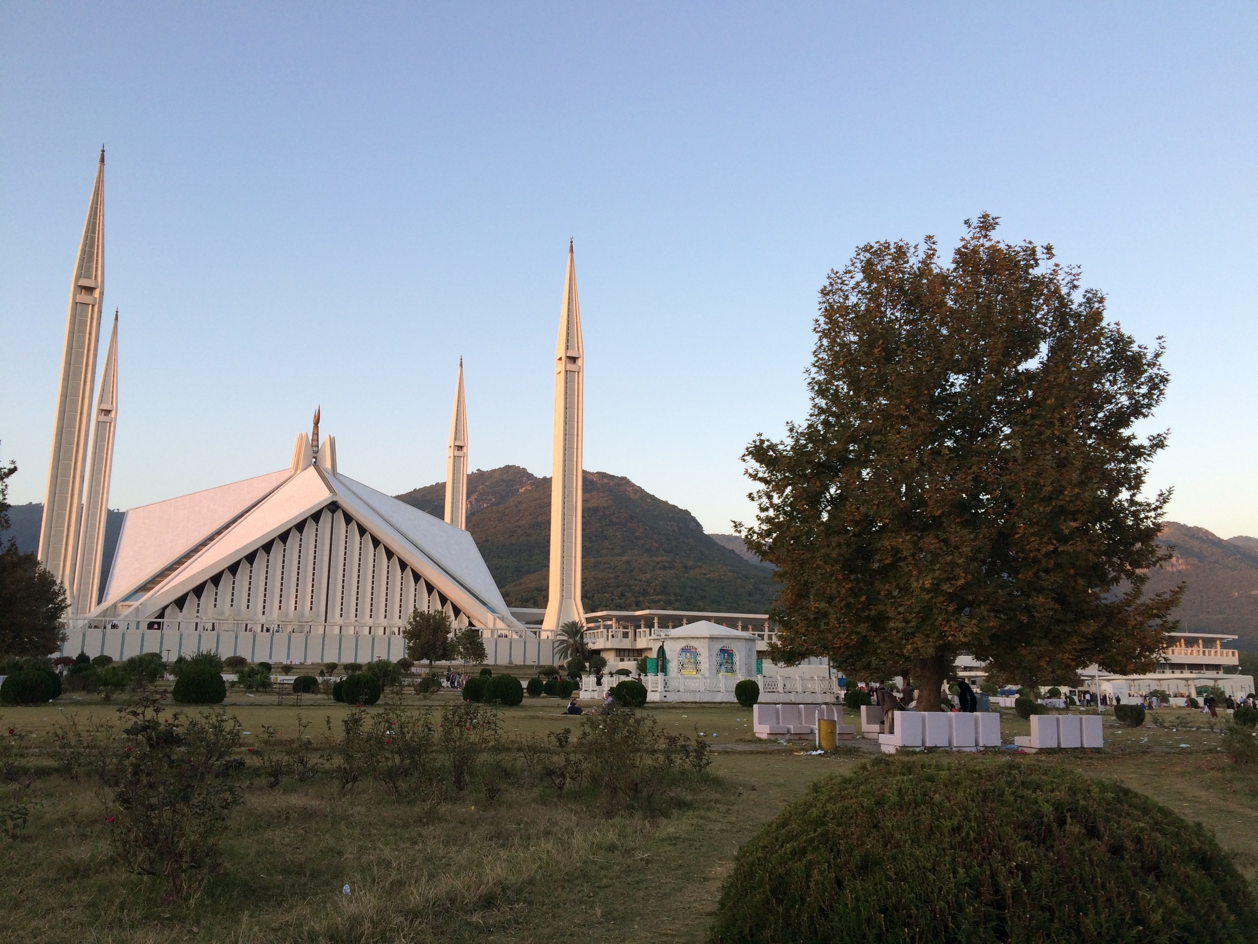 The famous Faisal Mosque in Islamabad. This is the largest mosque in the country.