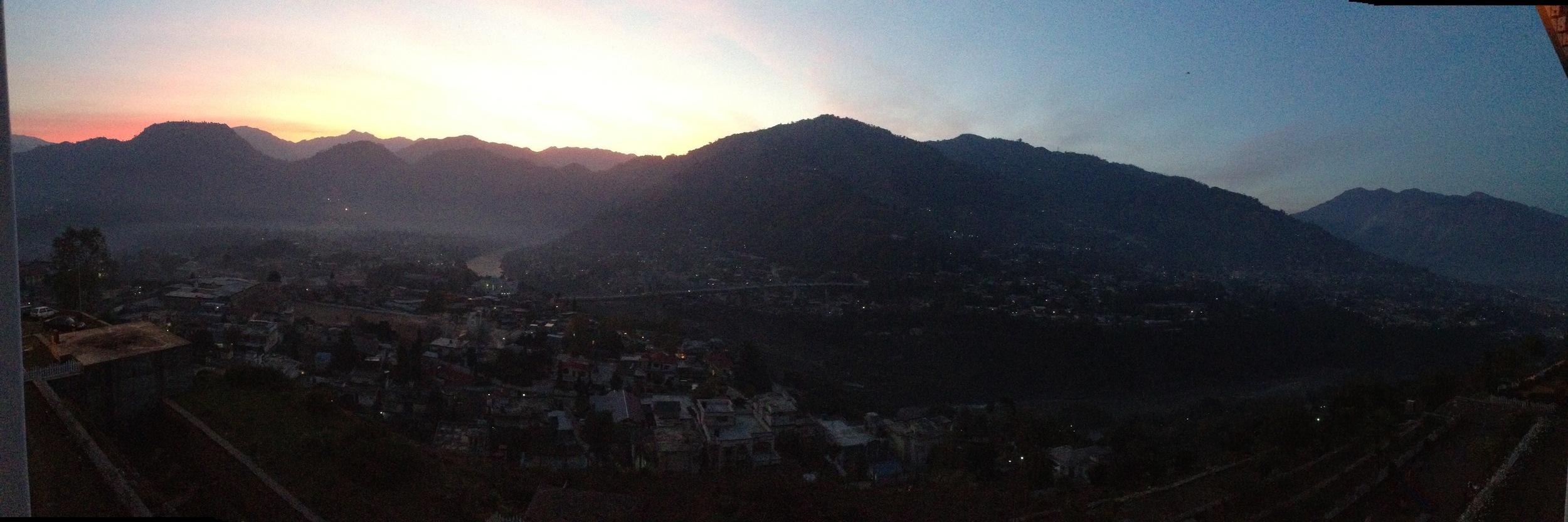 The view of the Muzaffarabad valley from our hotel window (basically all I saw of Muzaffarabad).