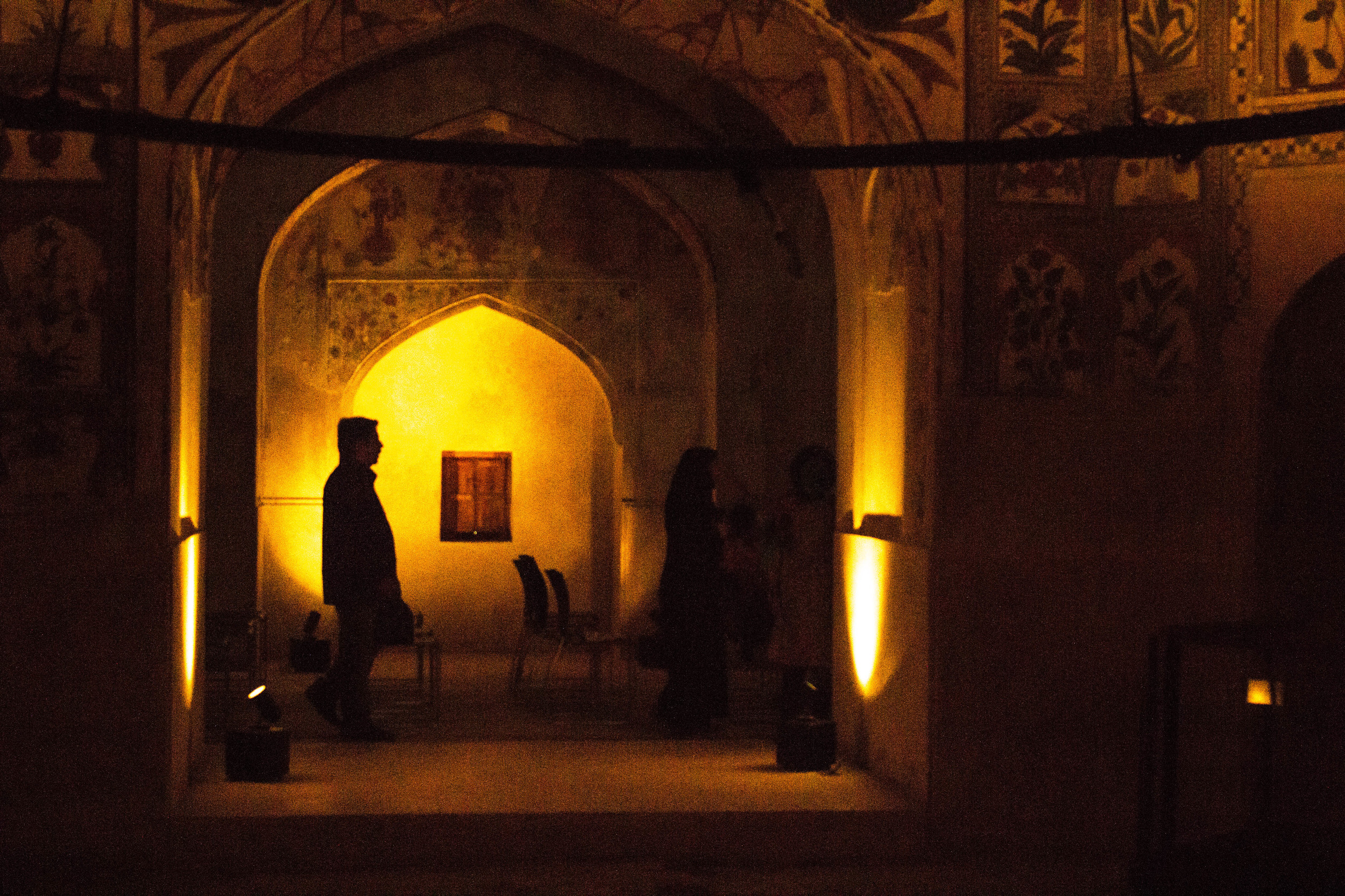 Tourists pass through the Shahi Hamam,also known as Wazir Khan Hamam. It was built by Wazir Khan in 1633 A.D. during the era of the fifth Moghul Emperor,Shah Jehan.