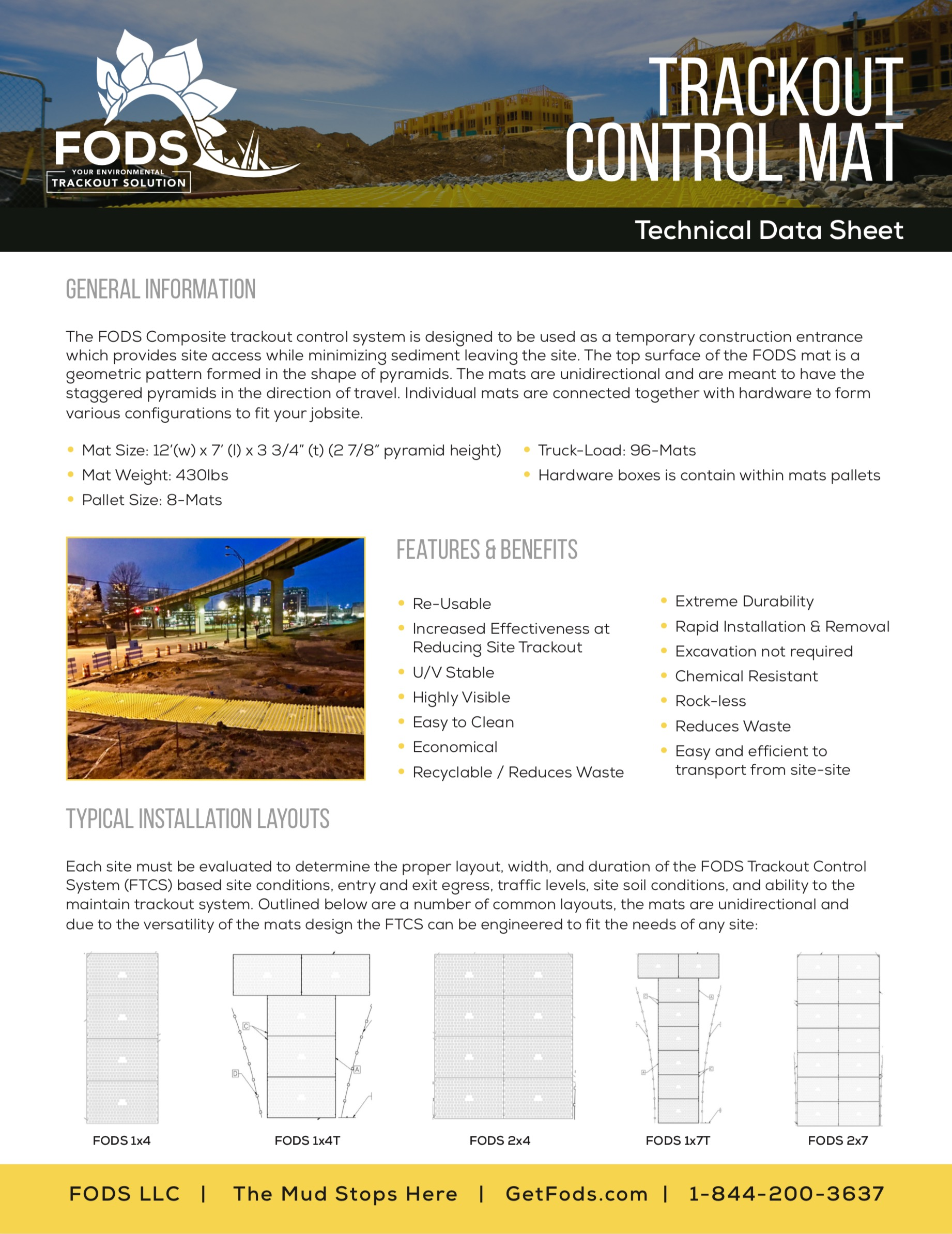 FODS Technical Data Sheet