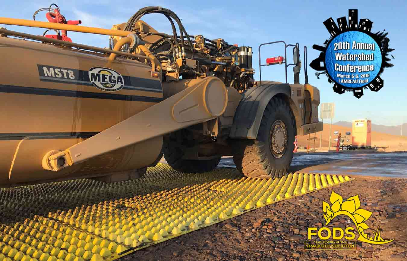 FODS_watershed_conference_green_bay_construction_entrance_construction_exit_trackout_control_erosion_control_yellow_mats_BMP_DOT_standards_construction_mudmats.jpg