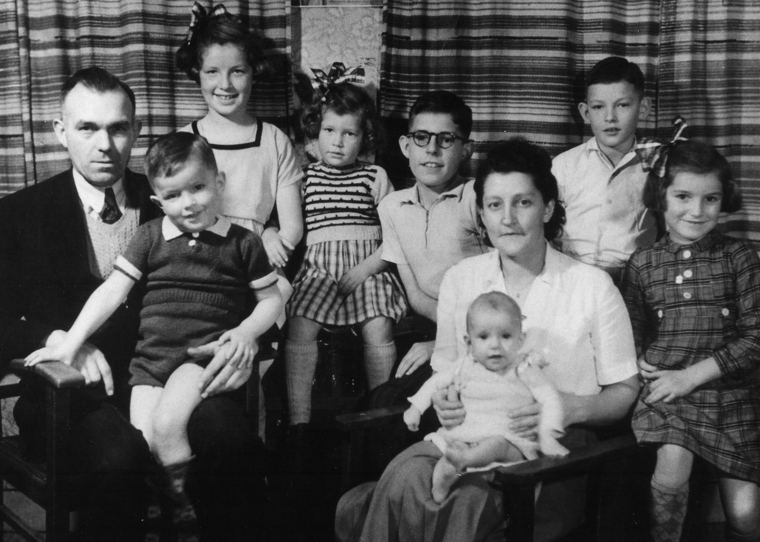 Family portrait winter 1952-53