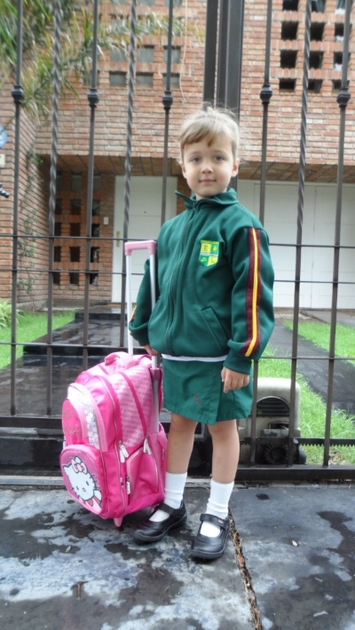 First Day of School for Daughter #1 - 2012