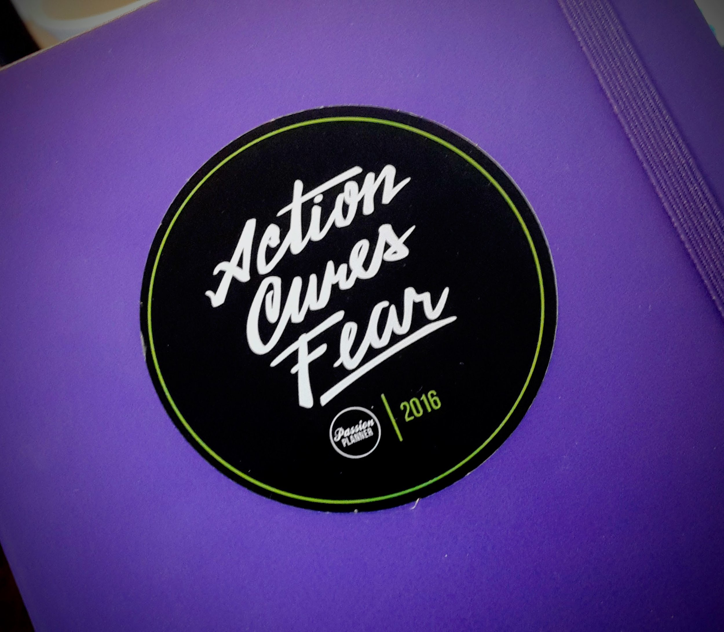 -The cover of my writing journal- with sticker from  PassionPlanner .