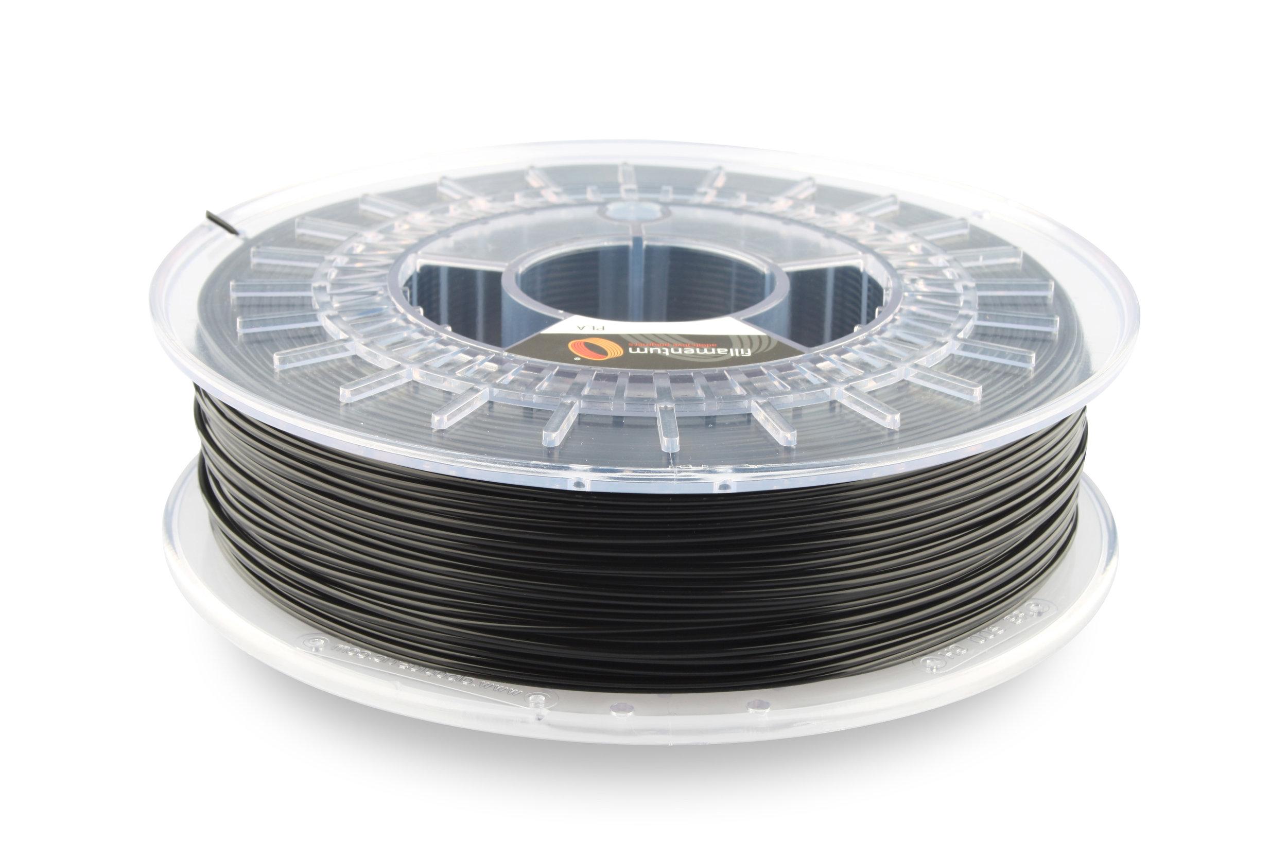 №13026 PLA Extrafill  traffic black RAL 9017 (1,75мм/750г)