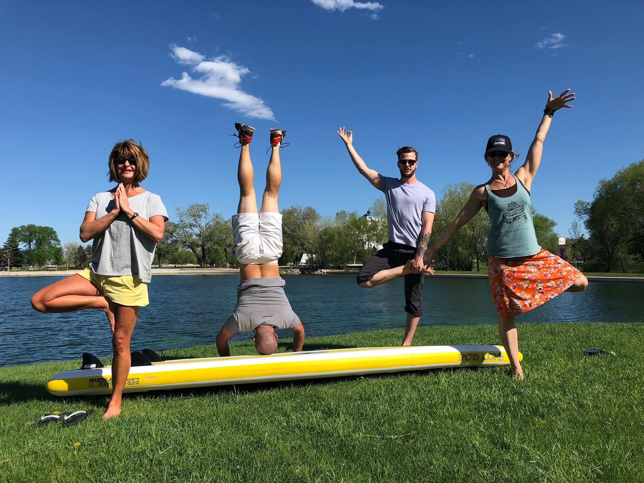 Training day for Kara, Mike, Kris & Karen. Get ready to have some fun, yogis!