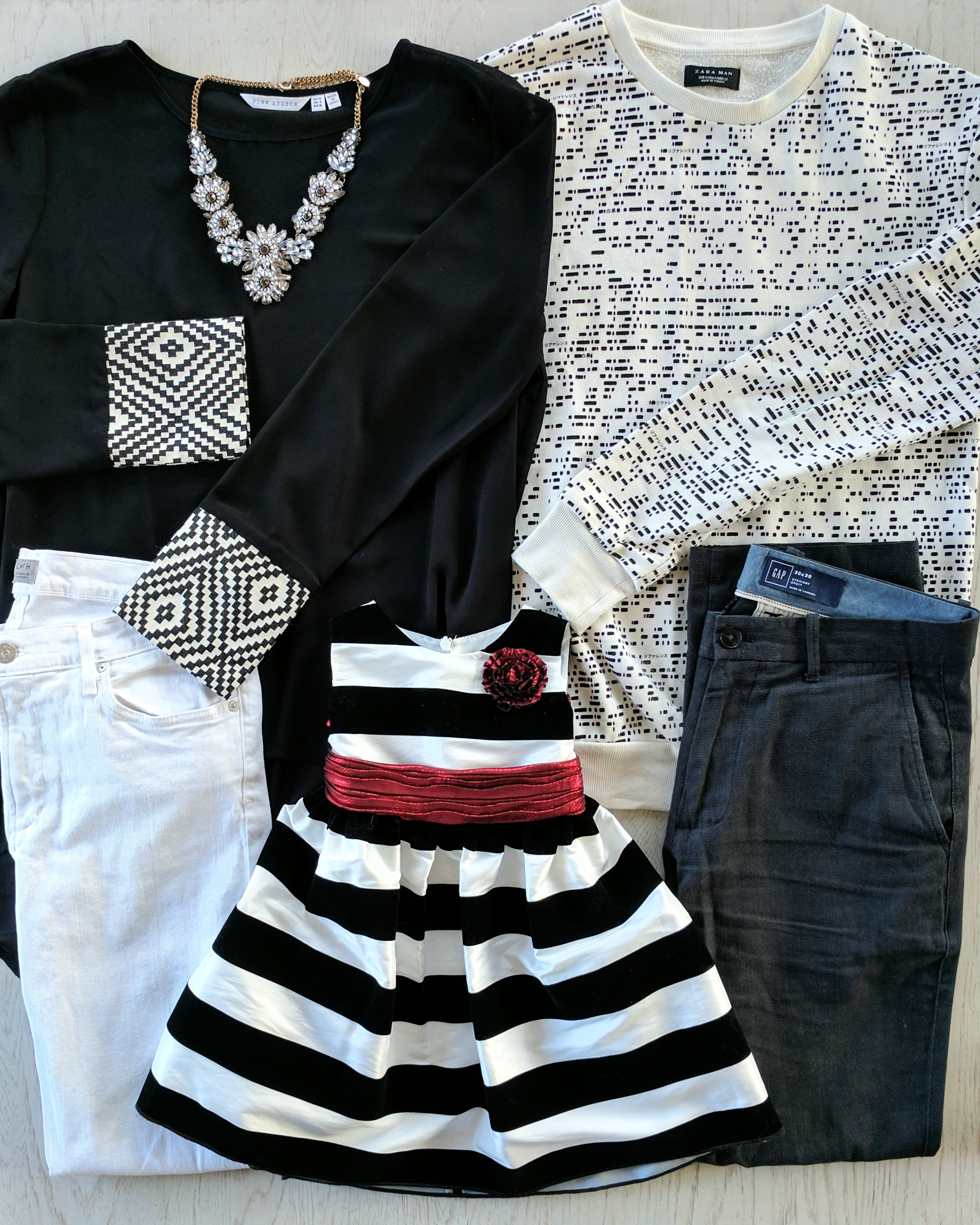 best black and white family photo outfit ideas by maygen kardash