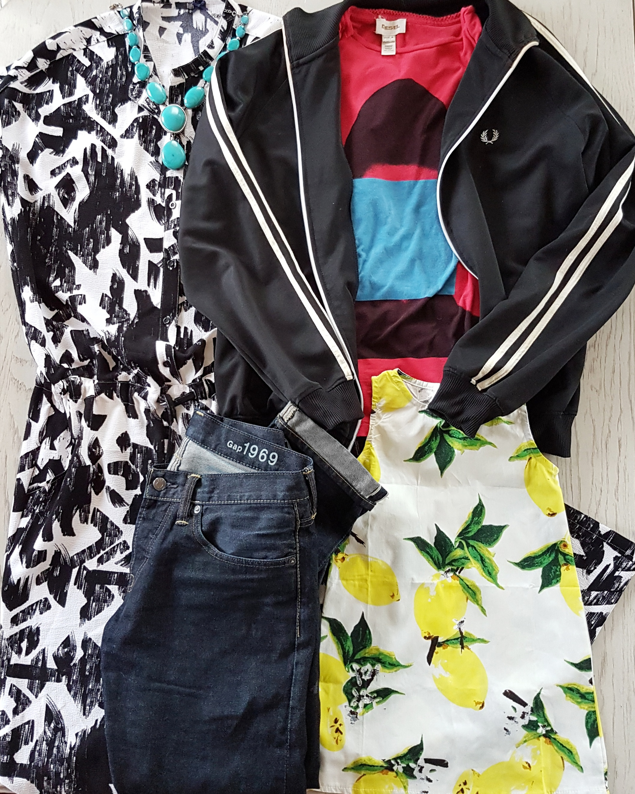 bold graphic style family photos outfit idea by maygen kardash