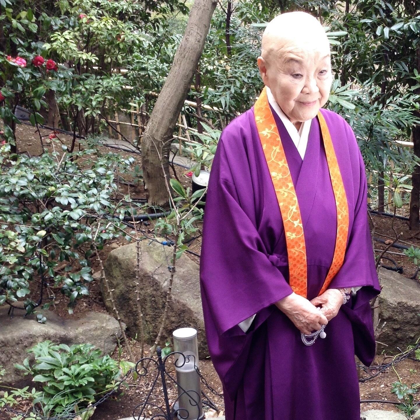 Japanese nun and novelist, Jakucho Setouchi