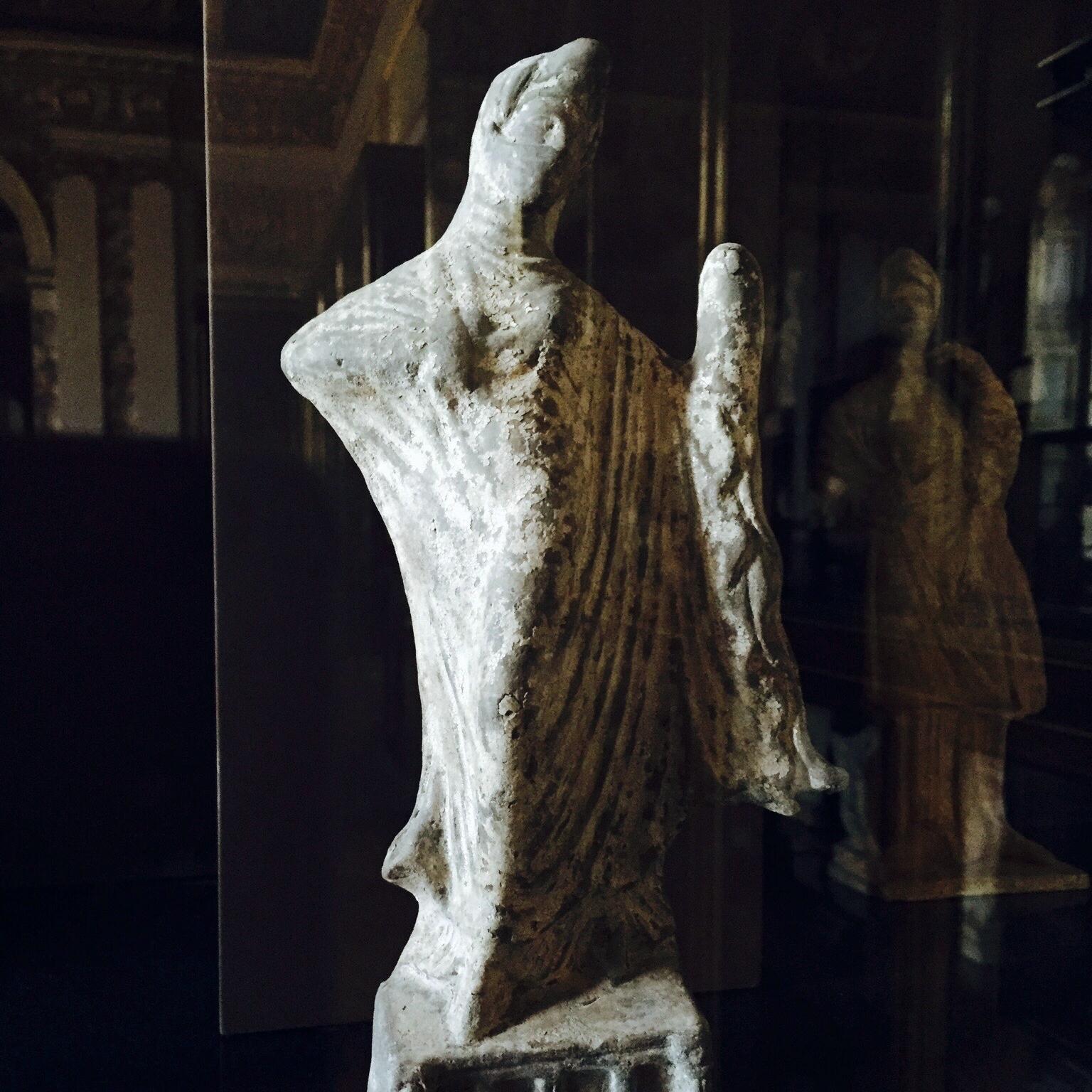 Greek Tanagra Figurine - Fully Veiled