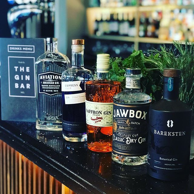 Thinking what to do today? How about coming down to The Gin Bar and being the first to try our new menu whether it be the new cocktails, wine or experiencing the Gins on selection