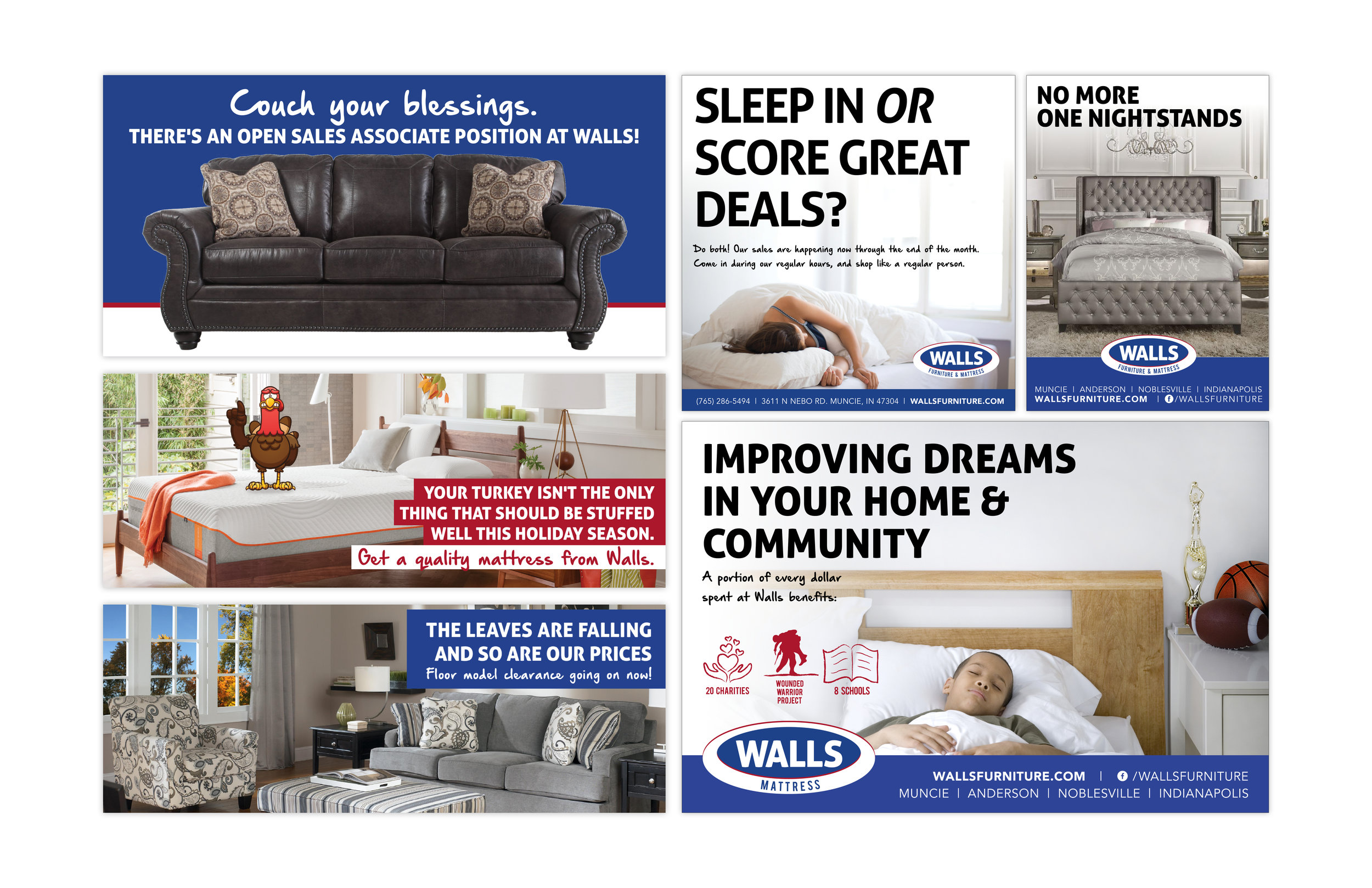 Walls Furniture Mattress Intersection Advertising Agency