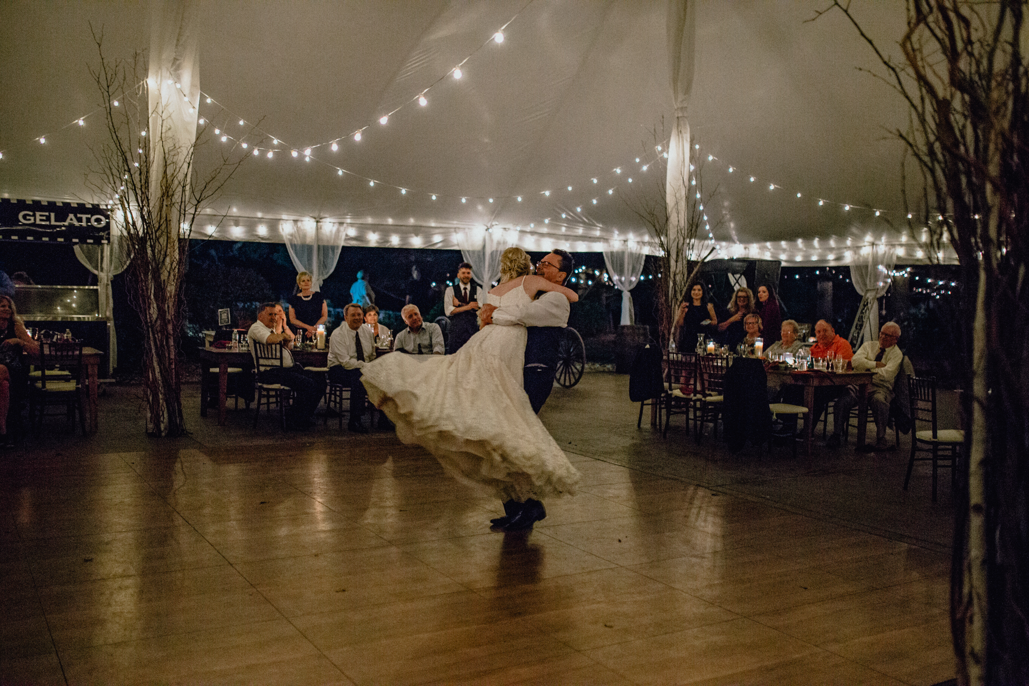 father daughter bride dance at reception at oak hill weddings