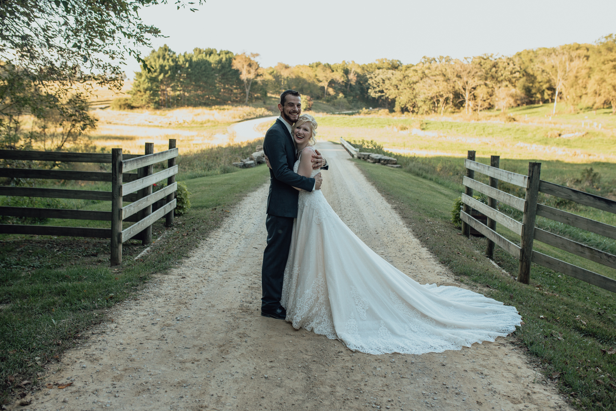 bride and groom portrait at oak hill weddings