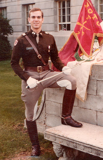 Cadet Lt. Col. Blake Purcell in 1980-81 when he was chaplain of the Corps of Cadets at Texas A&M, and just before he was commissioned as an officer in United States Army Infantry.