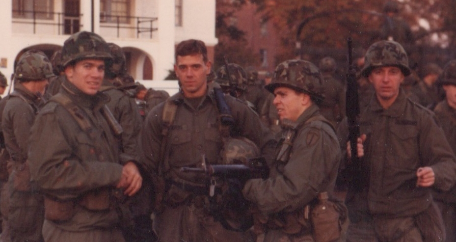 Pictured above left is SRS founder, Blake Purcell, serving as United States Army Infantry officer in 1982.