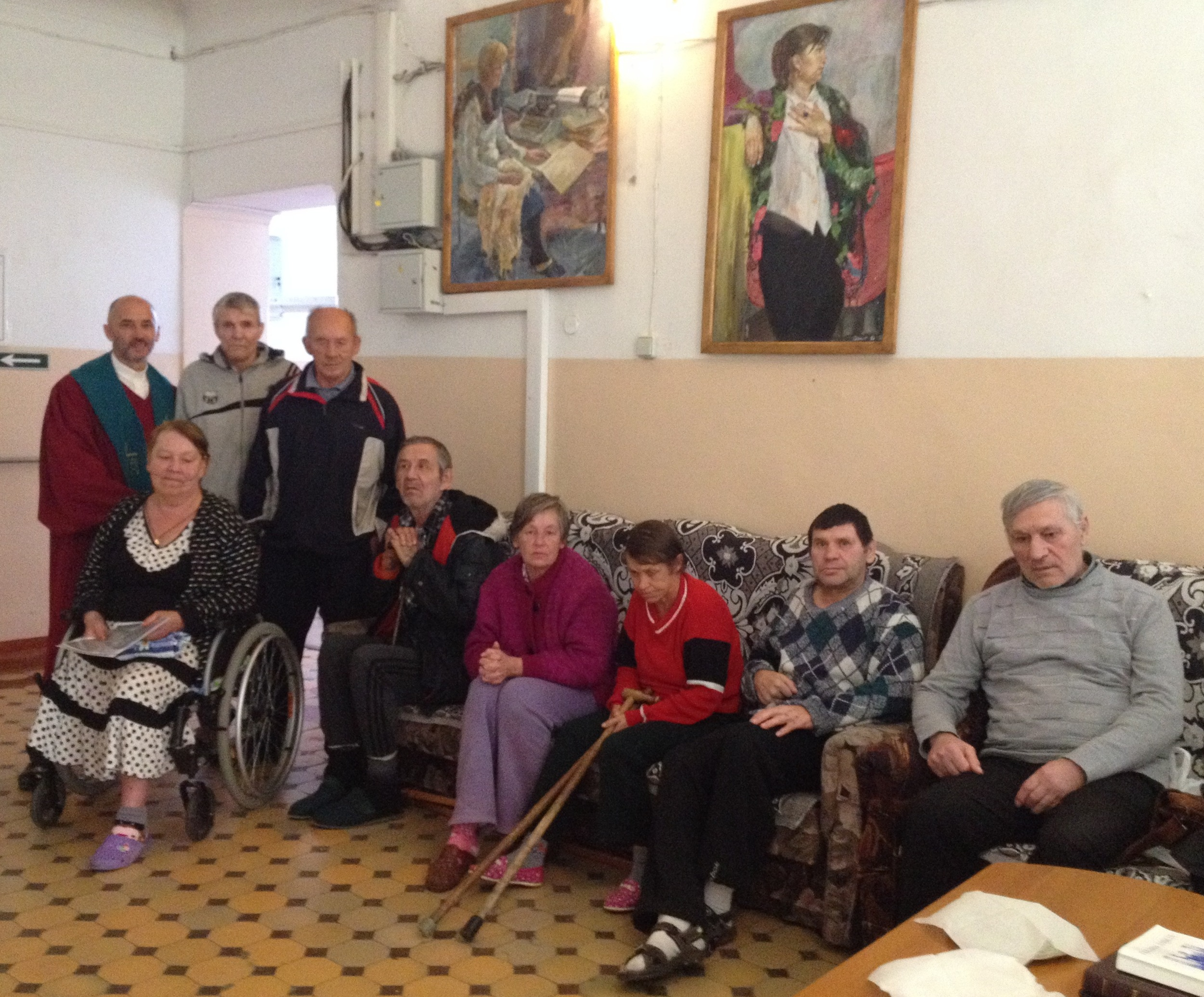 Sunday ministry in the nursing home.