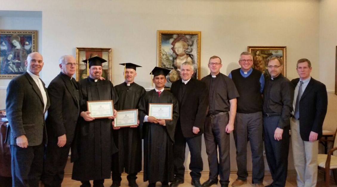 Meet our Masters of Biblical Studies - seminary graduates with professors and staff