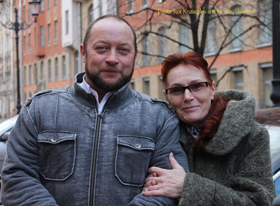 Chaplain Igor Krutogolov and his wife valentina