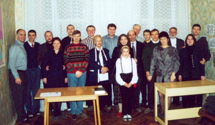 St. Pete Church with students, 2000